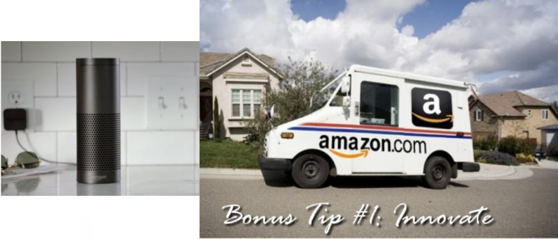 A Dozen Secrets to running your ecommerce business like Amazon: Bonus Tip 1. Innovate