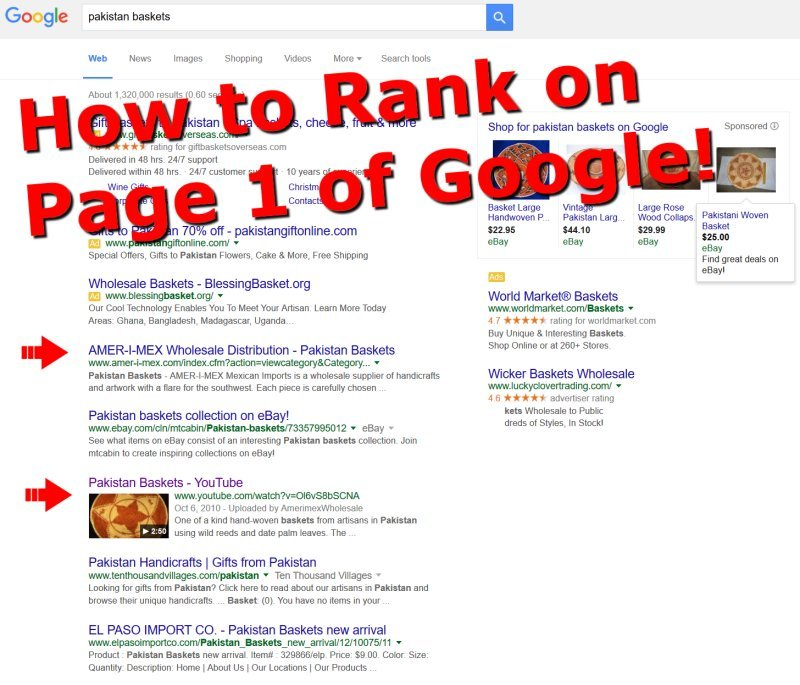 Find out how you can get on page one of Google
