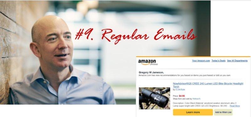 A Dozen Secrets to running your ecommerce business like Amazon: #9. Regular Emails