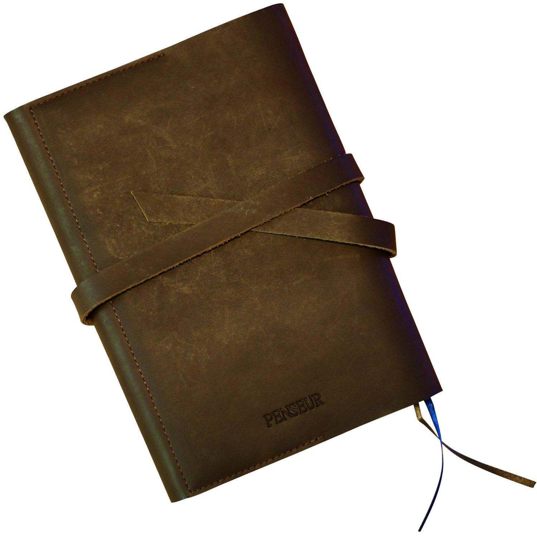 Handmade Genuine Leather Refillable Journal